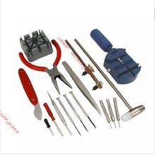 2014 Wholesale Latest 16pc Deluxe Watch Opener Tool Kit Set Repair Pin Strap Remover Case Holder