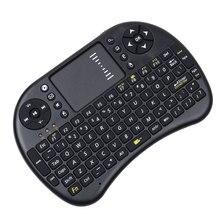 2016 Nuevo Mini Teclado Sin Hilos 2.4G Touchpad i8 Mini Teclado Inalámbrico ratón Combo Para Tv box tablet pc mini Para ps3 Para HTPC