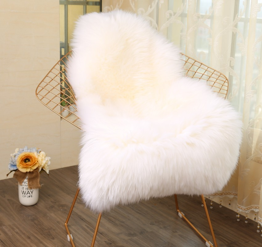 60X102CM Irregular Faux Fur Rug Modern Plush Carpet Home Entrance/Hallway Doormat Living Room Chair Cushion Kids Room Area Rug