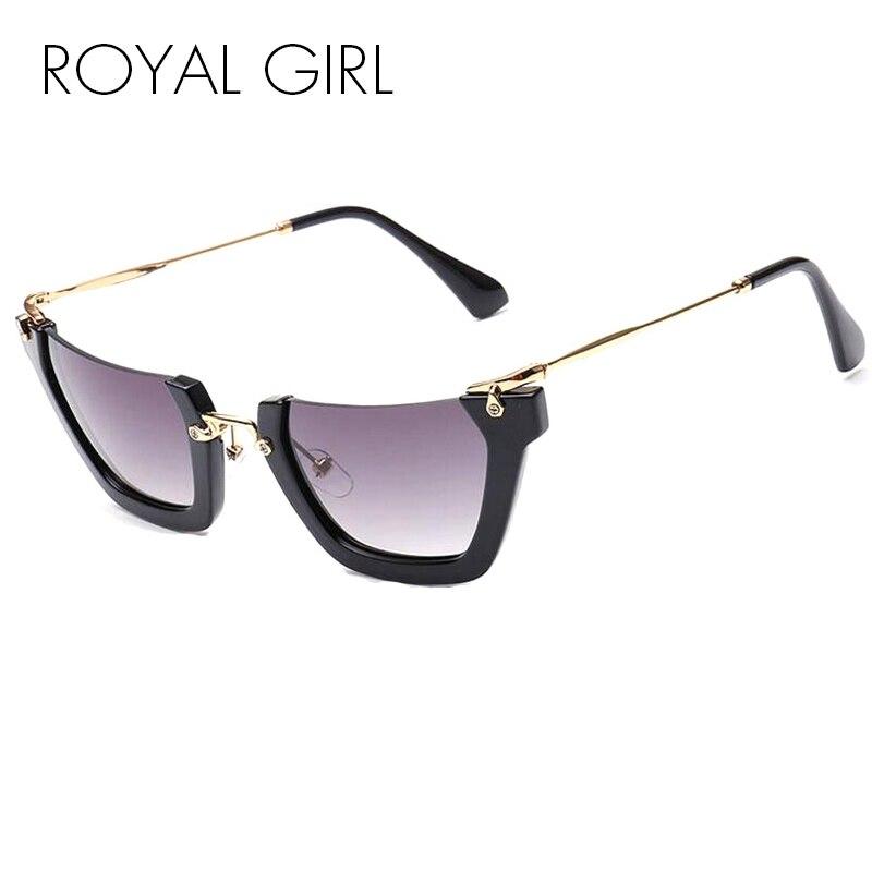 TL-Sunglasses Grandi bicchieri cornice trasparente delle donne della moda di lusso senza telaio occhiali da sole piazze donne grande UV400,luce rosa