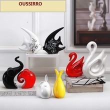 Kerámia kreatív otthoni dekoráció kézművesség helyiség dekoráció kézműves porcelán állati figurák dekoráció