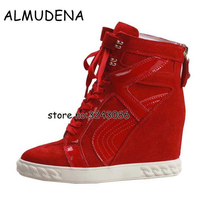 Spring Autumn Women Platform Wedge Casual Shoes Height Increasing Rome Style Tie Up Suede Leather Ankle Boots Lady Short Boots юрий максименко история русичей по велесовой книге
