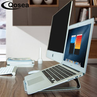 Qosea Protable Lightweight Stainless Steel Laptop Holder Radiator Stand Support Desk For IPad MacBook Notebook Cooling