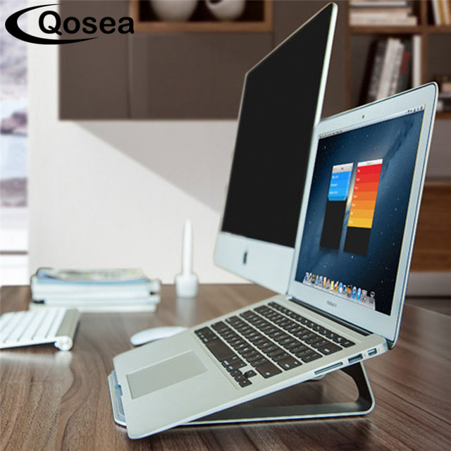 Qosea Protable Lightweight Aluminum Laptop Holder Radiator Stand Support  Desk For Apple MacBook Air Pro Notebook