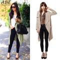 Autumn Women Clothing new Long Sleeve Irregular Casual Trench Coats Solid Color Loose Women Cardigan Overcoat