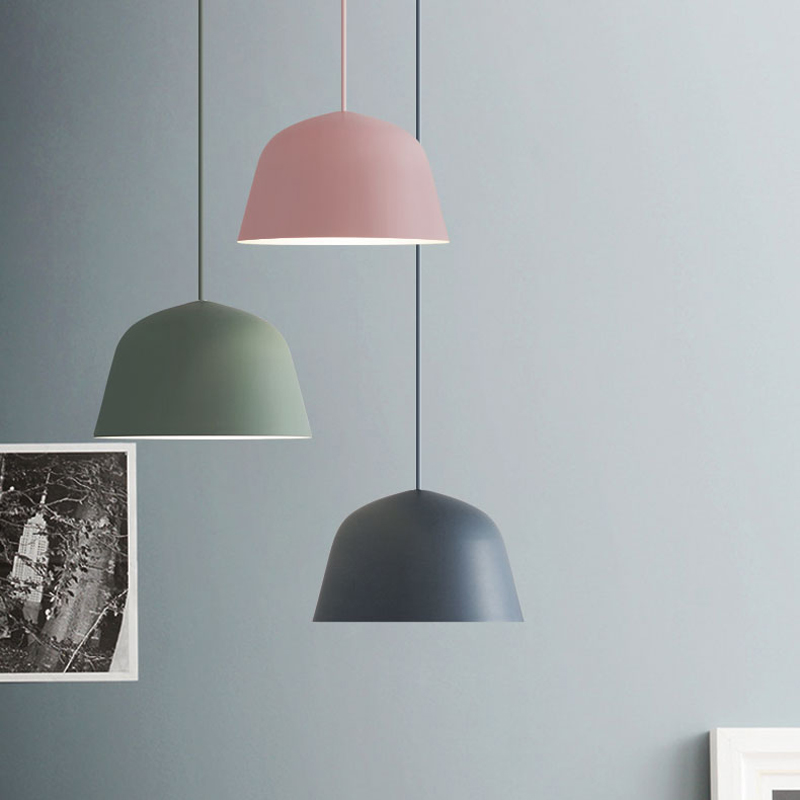 Colored Nordic Aluminum Pendant <font><b>Light</b></font> Modern simplicity Pendant Lamp for living room <font><b>bar</b></font> restaurant foyer dining room lighting