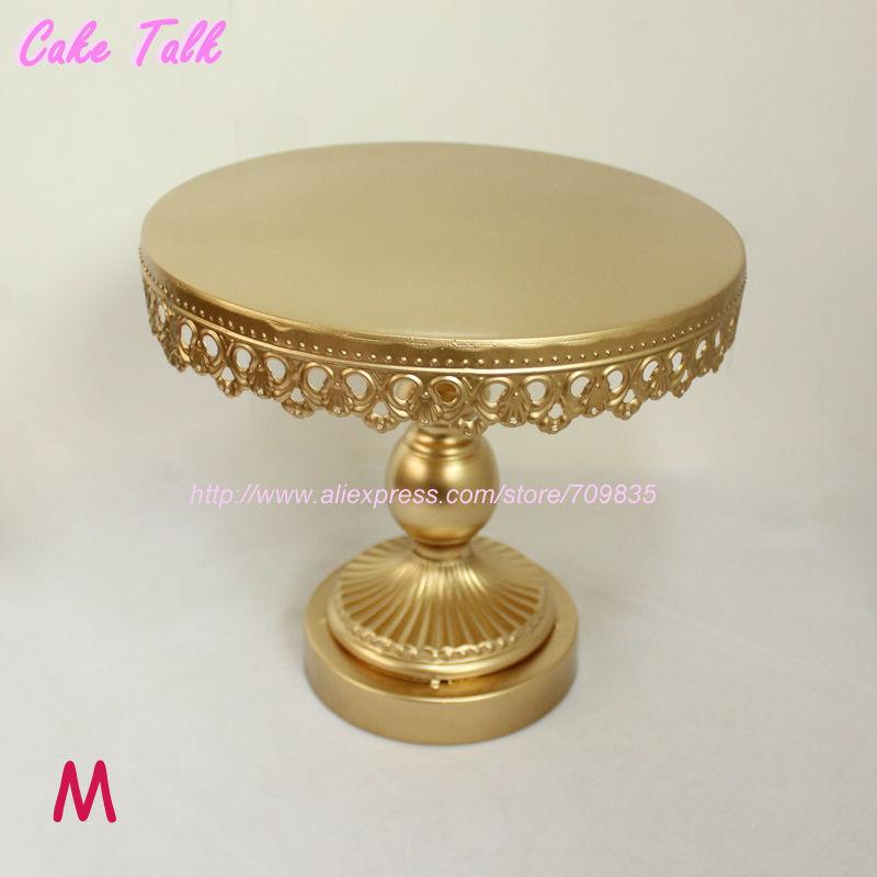 Metal iron gold cake stand 8\'\'/10\'\'/12\'\' wedding cake decorating ...