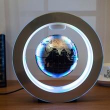Globo flotante de levitación magnética para decoración, mapa del mundo con luz LED con electroimán y Sensor de campo magnético, nueva novedad