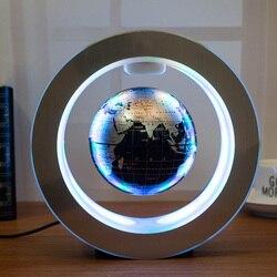 Nueva novedad, decoración, levitación magnética, Globo flotante, mapa del mundo con luz LED con Electro imán y Sensor de campo magnético