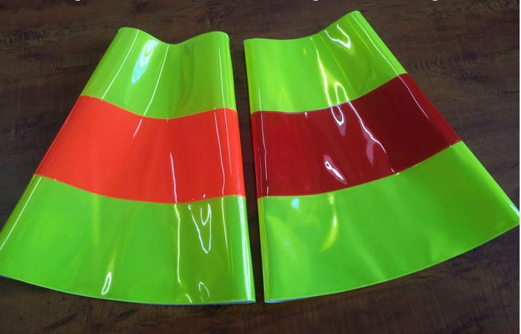 High quality Reflective road cone sleeve PVC road traffic safety protective warning sleeve customized height /mouth diameter