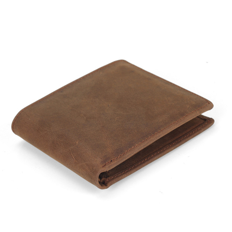 Genuine Leather Men Wallets Soft Short Male Purse Credit Card Holder Slim Wallet Men Vintage Solid Men's Wallet male brief short design wallets credit card holder men purse