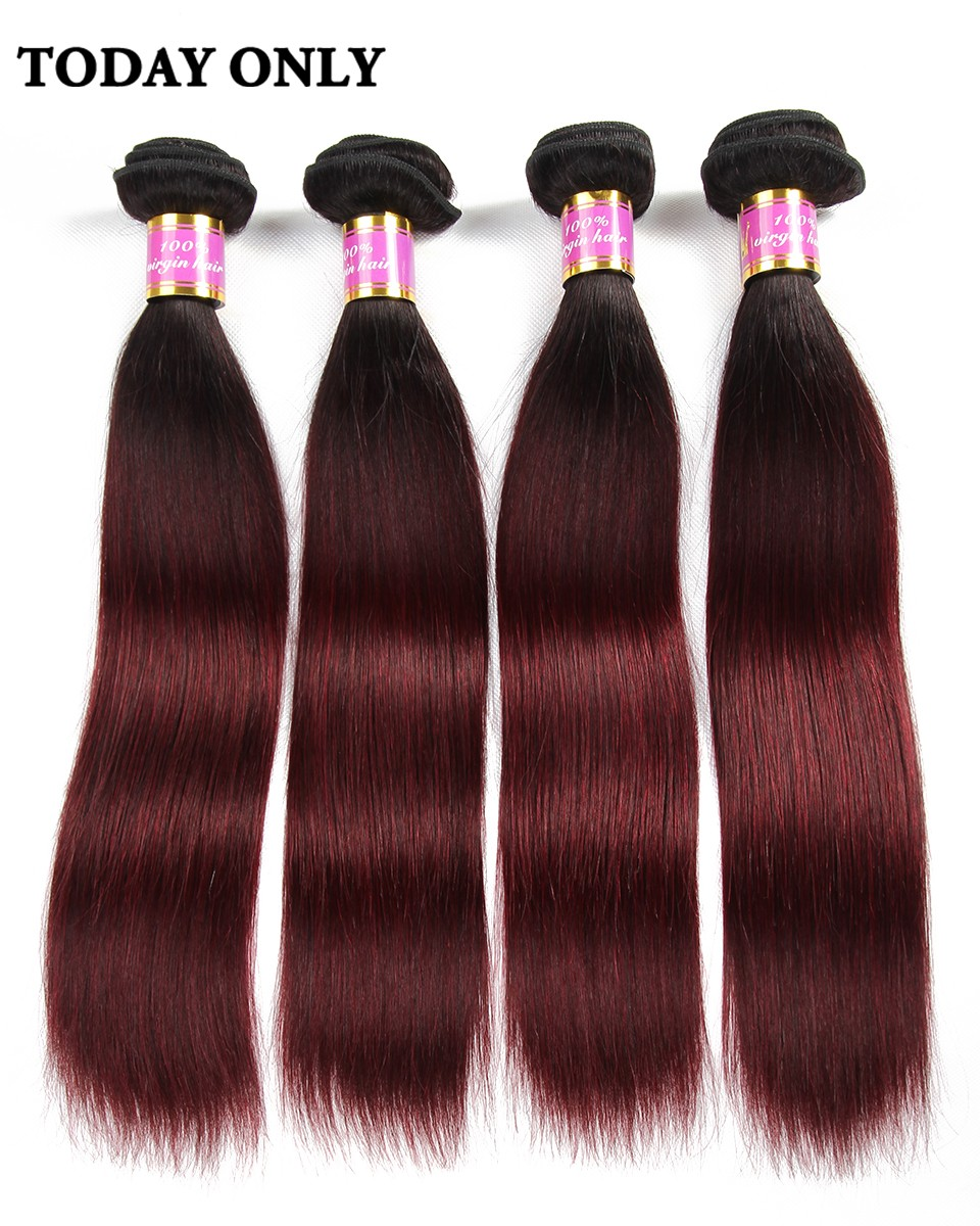 burgundy brazilian hair