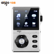 Original Aigo 108 Reproductor de MP3 Hi-fi de Alta Calidad de Aleación de Zinc Reproductor de Música Sin Pérdida de sonido 2.2 Pulgadas 8 GB Universal Con Color pantalla