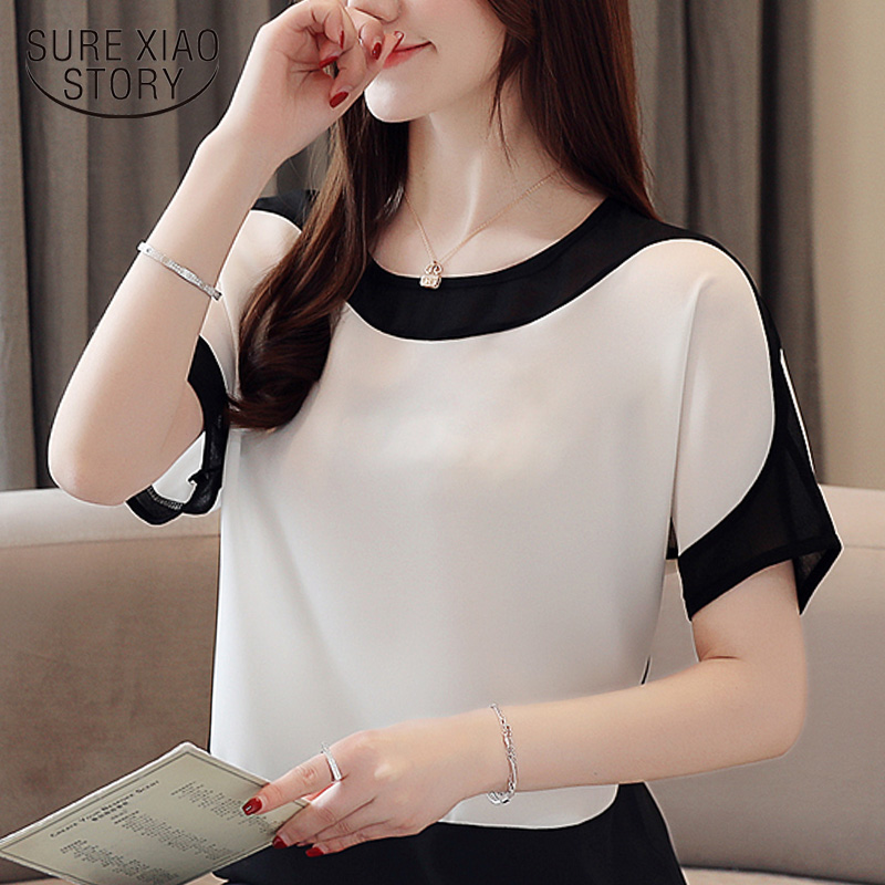 fashion women   blouses   2019 women   blouse     shirt   short Sleeve plus size chiffon   blouse   women   shirts   womens tops and   blouses   3397 50
