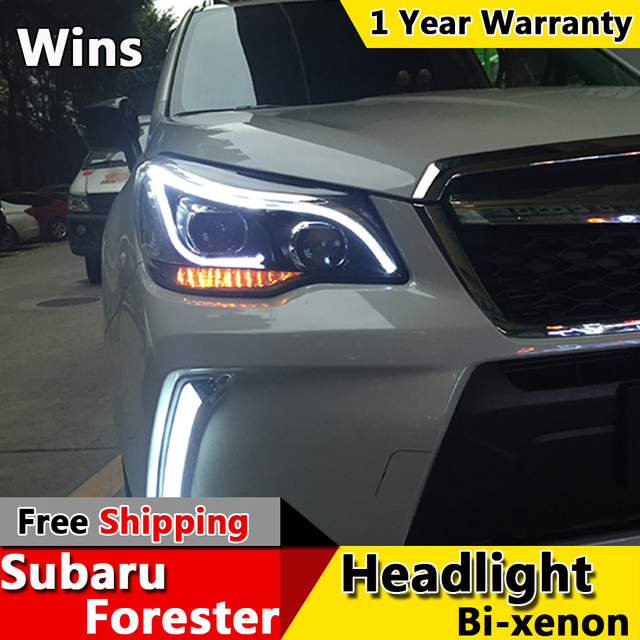Wins Lights For Subaru Forester Headlights 2017 New Led Headlight Drl Bi Xenon Lens High Low Beam Parking