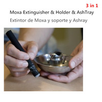 Moxa Roll Stick Fire Extinguisher Holder Moxa Burner Box Moxibustion With Ash Collector Tray Dish Stable