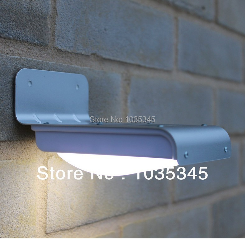 ФОТО Free Shipping 2 piece set 16 Bright LED Wireless Solar Powered Motion Sensor Light wall garden Lamp energy saving  Weatherproof