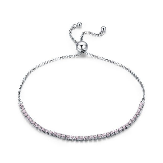 Sparkling Strand Silver Bracelet
