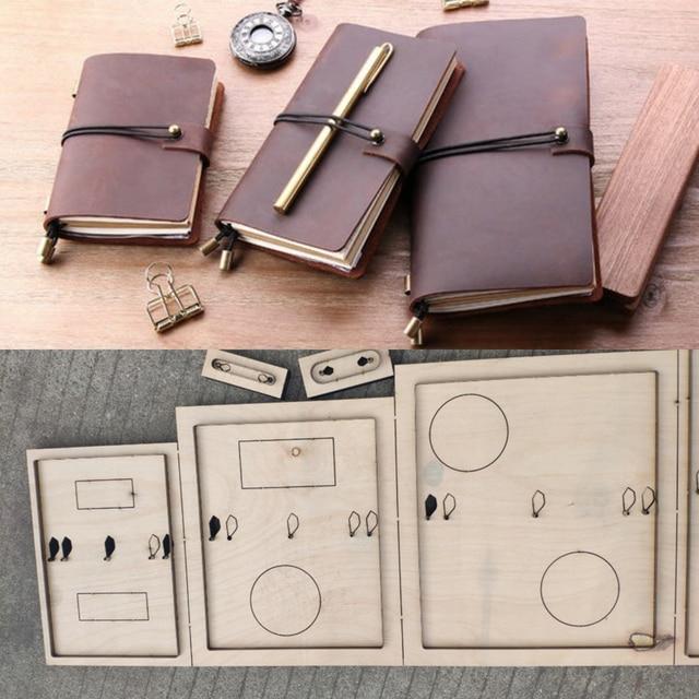 DIY skóra craft notebook torba na paszport okładka die cutting forma do wycinania wytłaczany ręcznie szablon narzędzia