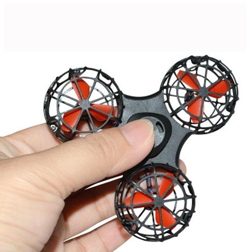 1 pz di Alta qualità Piccolo Giocattolo Drone Volo Fidget Spinner Alleviare Lo Stress Regalo Volare USB di ricarica Gyroscop Giocattolo