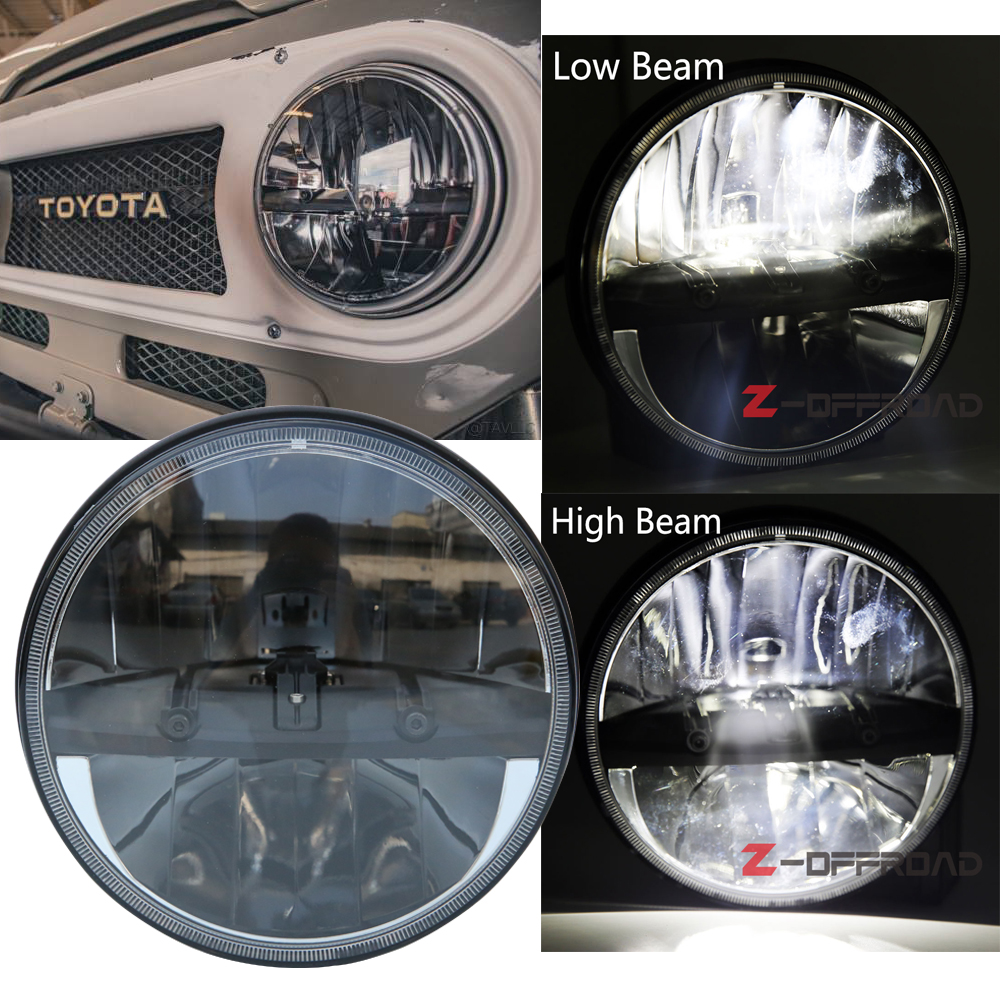 Us 79 34 11 Off For Jeep Wrangler Jk Tj Hummer Toyota Auto Led Lights 7 Inch Black Round Car Led Headlights With Hi Lo Beam In Car Light Assembly
