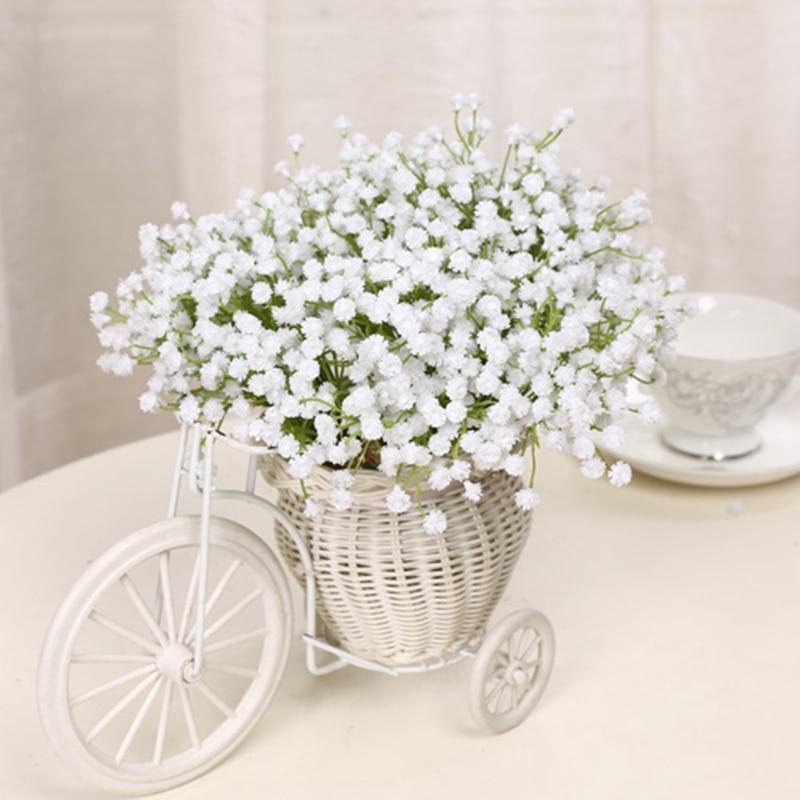 6 번들 장식용 인공 꽃 실크 꽃 MANTIANXING 스타 플라워 웨딩 장식용 인공위성