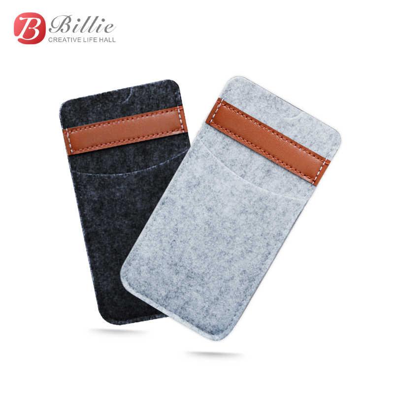 Slot para cartão capa do telefone móvel para o iphone x 6s 7 8 plus 5.5 polegada caso para iphone6s 7 plus sacos bolsa artesanal lã sentiu carteira
