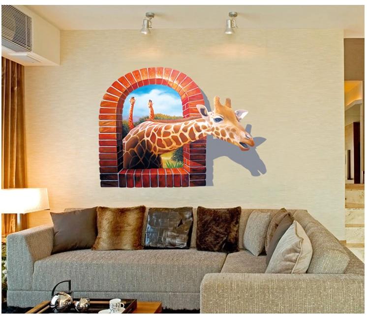 comprar nuevas pinturas murales d pegatinas de pared de la jirafa etiqueta de la pared para home hotel bao sala de