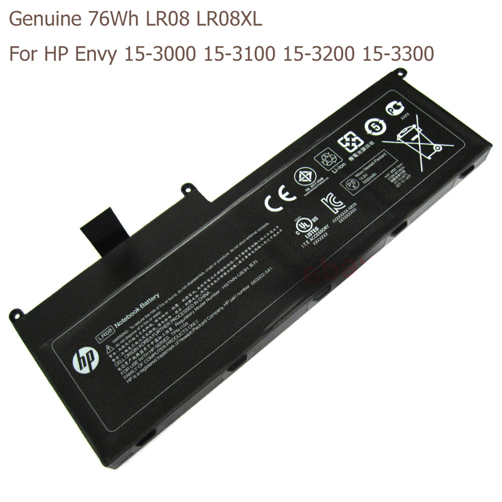Genuine 76Wh LR08 LR08XL Battery For HP Envy 15-3000 15-3100 15-3200 15-3300