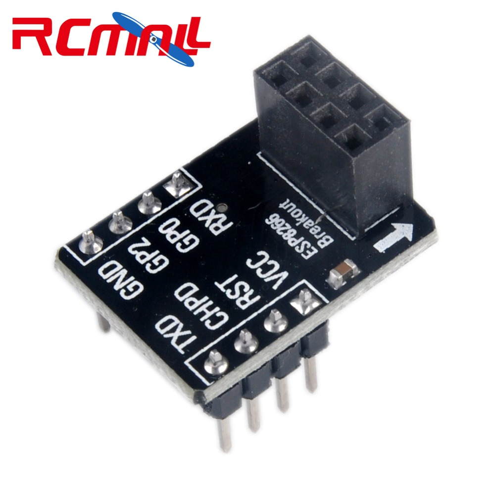 RCmall ESP-01 Breakout Board Breadboard Adapter PCB For ESP8266 ESP-01S Serial WIFI Wireless Transceiver Module FZ2178