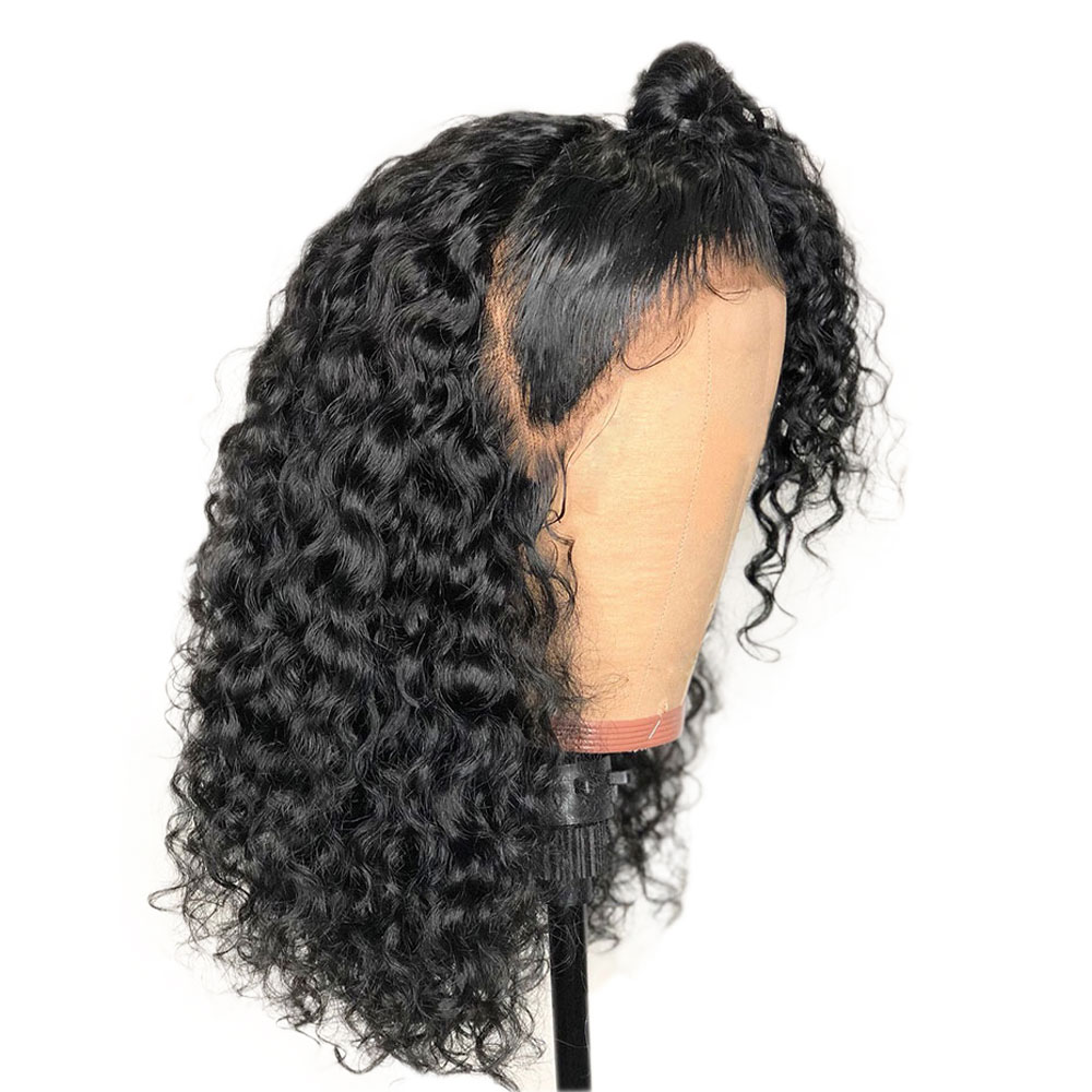 Eseewigs 180 Density Glueless Full Lace Wigs Curly Pre Plucked Brazilian Remy Human Hair Wigs With Baby Hair Natural Hairline