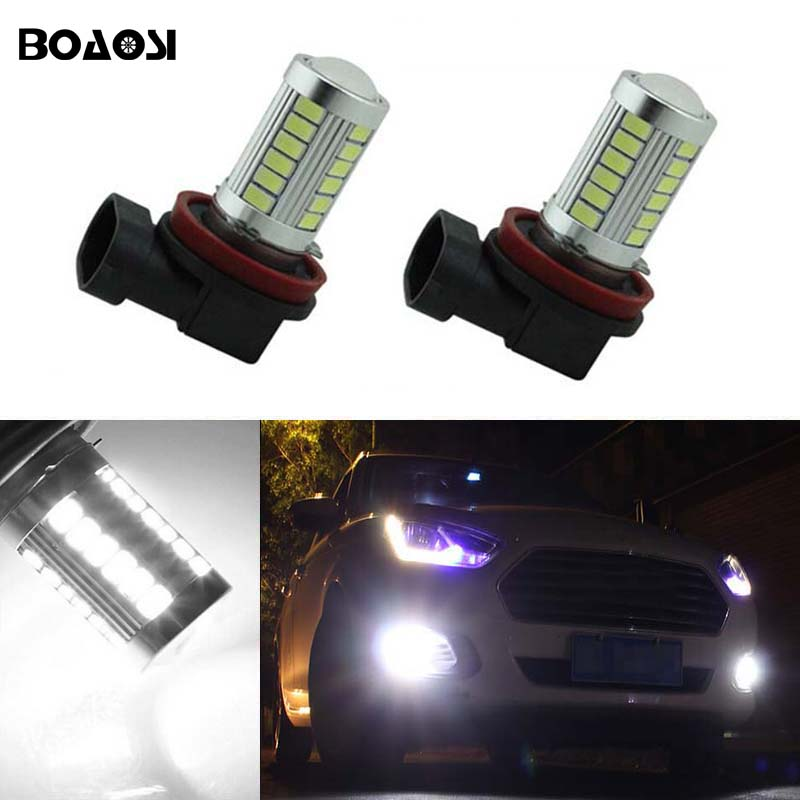 BOAOSI 2x 9006/HB4 LED Car Canbus Bulbs Reflector Mirror Design For Fog Lights For Subaru WRX / VS / STi 2008-2013 boaosi 2x h11 led canbus 5630 33 smd bulbs reflector mirror design for fog lights for honda civic fit accord crider crv