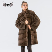 BFFUR Fashion Thick Warm Fur Coats China From Natural Fur Whole Skin Womens Coats Winter Mink Fur Clothing Plus Size Parka Real