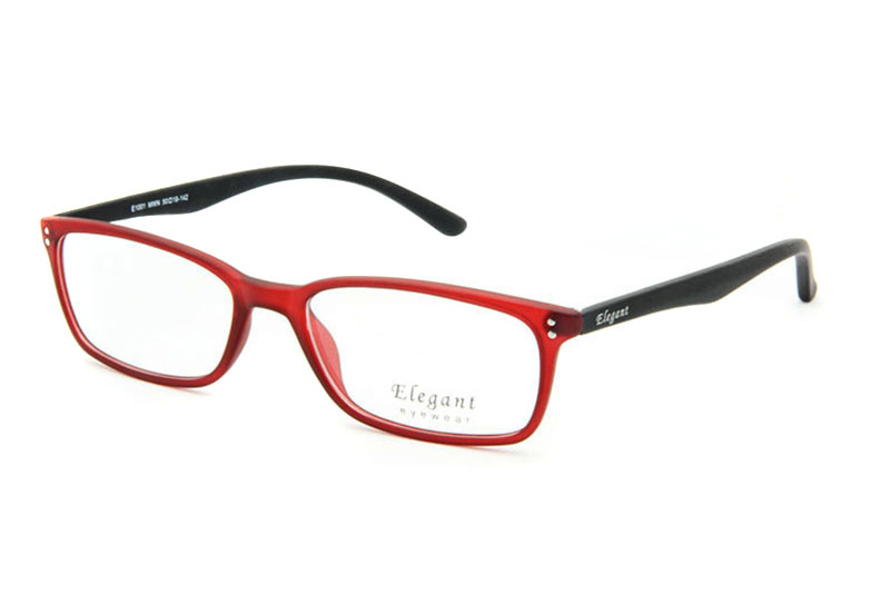 square glasses red