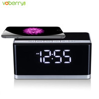 Portable Wireless Alarm Clock Bluetooth Speaker With Touch LED Lamp 2200mAh Battery Support TF USB For