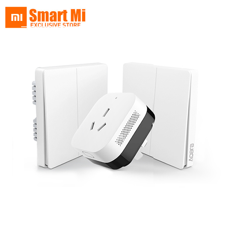 2017 xiaomi smart home gateway 3 aqara smart light control zigbee wifi wireless key and wall. Black Bedroom Furniture Sets. Home Design Ideas