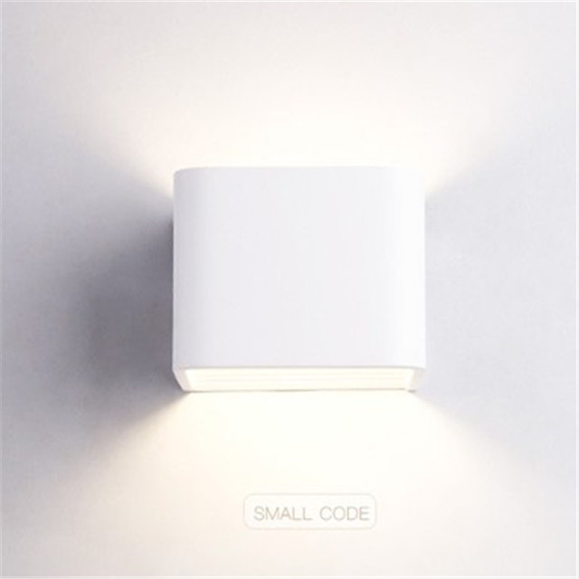 Creative Rectangle Simple Modern LED Wall Light Fixtures Bedroom Bedside Wall Lamp White Iron Wall Sconce Indoor Lighting