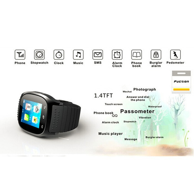 Smart Watch For Android Phone Sport Smart Bluetooth M26 Luxury Wrist Watch with Dial SMS Remind Pedometer 2017 Cheap Smart Clock