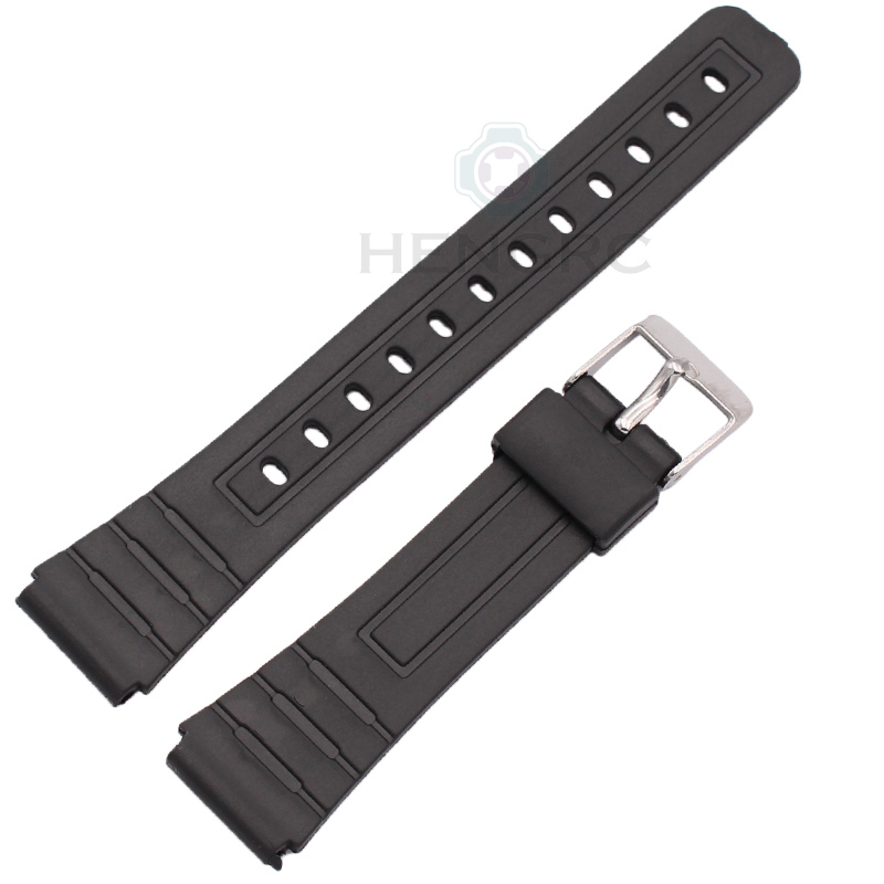 16mm 18mm 20mm Silicone Watch Strap Band Women Men Black Sport Diving Rubber Watchbands Buckle For Casio Watch Accessories 20mm silicone rubber watchbands men women sport waterproof watch band strap black red blue walnut metal buckle accessories