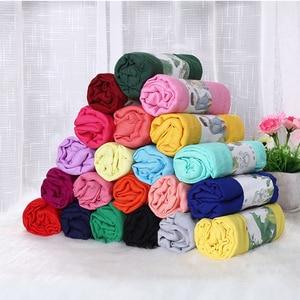 Image 3 - Mode Weiche Baumwolle Leinen Grau Hijabs Musilim Islamische Frauen Schal Feste Große Größe Schöne Damen Shaw Schals Kostenloser Versand