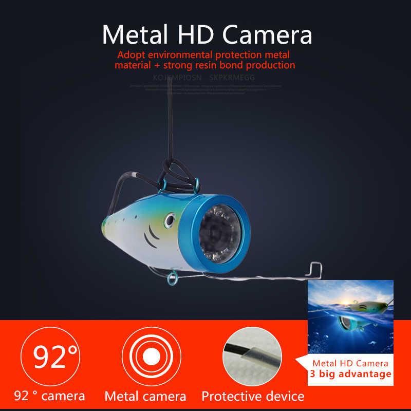 Erchang подводный Ice Рыбалка Камера 7 ''1000tvl HD Рыбалка видео Камера Регистраторы DVR 12 шт. светодиодный светильник с 8 г SD карты