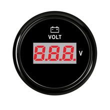 Digital Voltmeter Volt Gauge Meter Voltage Meters 52 mm for Motorcycle Car Boat Truck ATV AMP Yacht With Red Backlight 12-24V