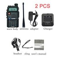 2PCS Baofeng UV 5R Walkie Talkie 10 KM Two Way Radio UV 5R Radio Comunicador Hunting Ham Radio Station 128CH VHF UHF Dual band