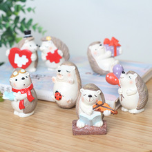 Cartoon Animal Resin Crafts Artificial Figurine Miniature Micro Landscape Flowerpot Car Home Office Decoration Garden Supplies