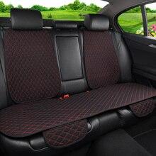 Чехол для автомобильного сиденья, универсальная льняная подушка для заднего сиденья с подголовником, Всесезонная подкладка для интерьера автомобильного кресла
