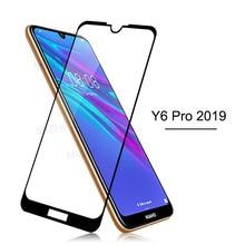 """ป้องกันสำหรับ Huawei Y6 2019 กระจกนิรภัยสำหรับ Huawei Y6 Pro Y 6 6Y 2019 y62019 หน้าจอ Protector ฟิล์ม MRD LX1F 6.09"""""""