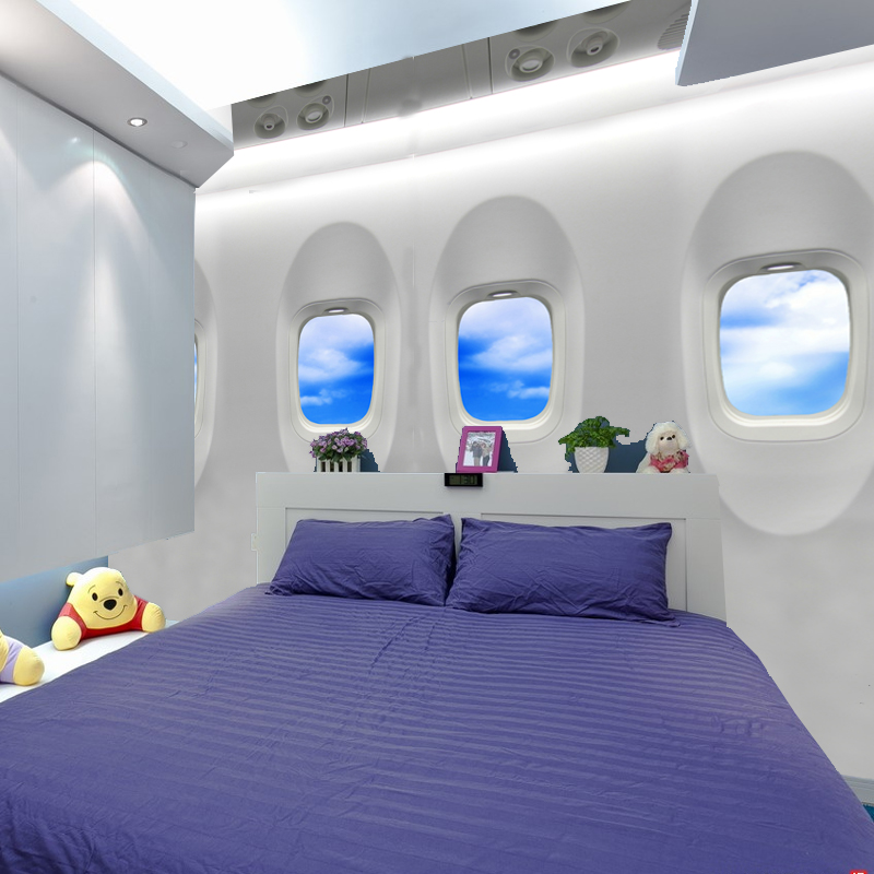 Custom 3d photo wallpaper large murals simple doors and for Airplane cockpit wall mural
