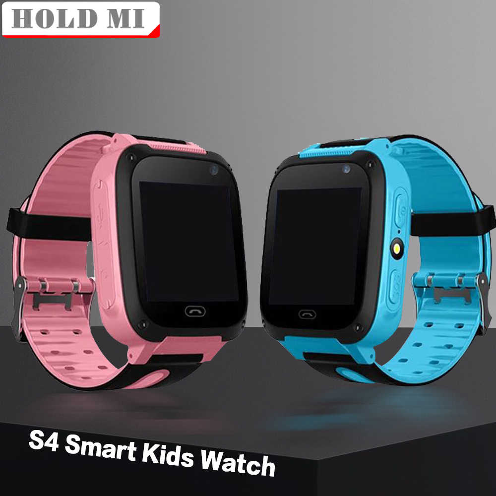 Kids Smart Watch S4 Waterproof Smart Children Watch Monitor Positioning SIM Card Dial SOS Camera for Android IOS Phones Locator