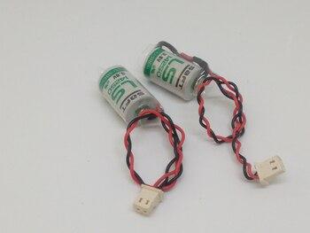 10pcs/lot New Original SAFT LS14250 14250 1/2AA LiSOCL2 3.6V 1250mAh PLC Battery Batteries With Plug LS 14250