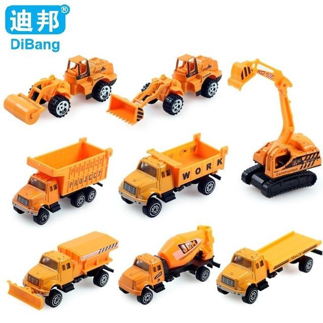8 Unids Set Miniatura De Carro Miniatura 1 64 Tractor Coche